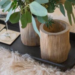 Holzgefäss zur Dekoration für Zweige