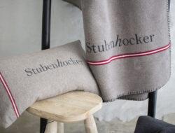Decke Stubenhocker Farbe Rauch Beige