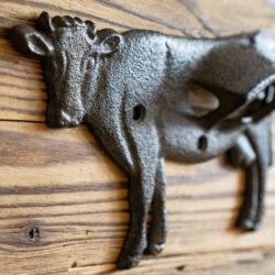 Flaschen Öffner für die Wand im Landhausstil Kuh