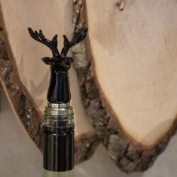 Flaschen Wein Verschluss aus Glas in Schwarz