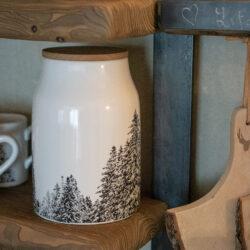 Küchendose Behälter mit Bäumen Alpenstil Alpenlook