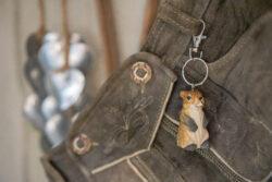 Anhänger Schlüsselring Murmeltier Holz