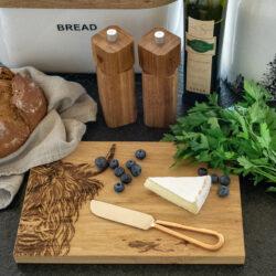 Käse Brett mit Messer im Geschenkset Alpenlook Almstil
