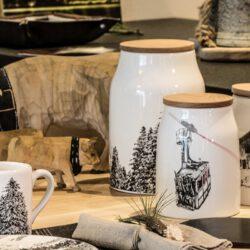 Küchen Dose mit Gondel Motiv und Holzdeckel