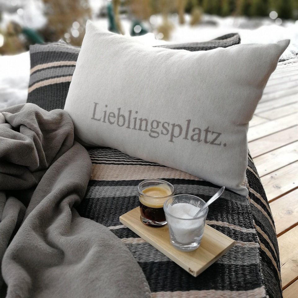 Kissen Hülle Lieblingsplatz Farbe Rauch Fussenegger