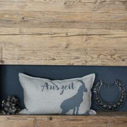 Kissen  Hülle mit Steinbock aus Leinen