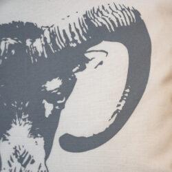 Kissen Siebdruck Handmade Mufflon