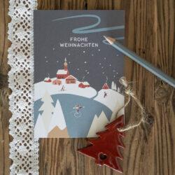 Klapp Karte Frohe Weihnachten